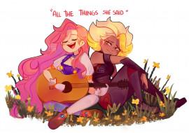 Seraphine, Rell, гитара, цветы, музыка