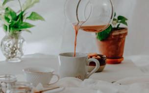 еда, напитки,  чай, печенье, чай, чайник