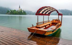 корабли, лодки,  шлюпки, озеро, лодка, церковь