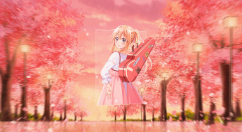 аниме, shigatsu wa kimi no uso, твоя, апрельская, ложь