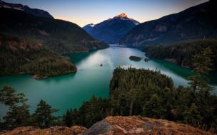 Diablo Lake,USA обои для рабочего стола 1920x1200 diablo lake, usa, природа, реки, озера, diablo, lake