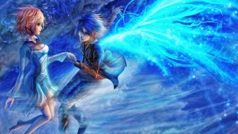 аниме, ангелы,  демоны, двое