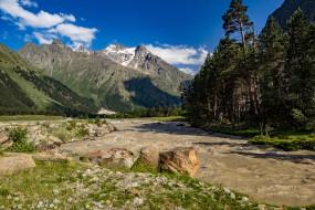 Ущелье Адыр- Су обои для рабочего стола 1920x1280 ущелье адыр- су, природа, горы, ущелье, адыр-, су, россия, кавказ, река
