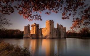 bodiam castle, города, замок бодиам , англия, bodiam, castle