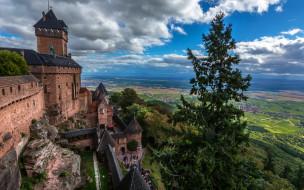 chateau du haut koenigsbourg, города, замки франции, chateau, du, haut, koenigsbourg