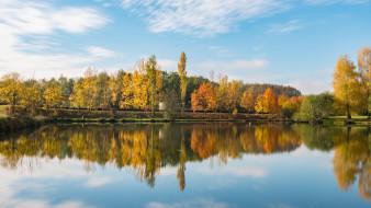 природа, реки, озера, река, деревья, осень