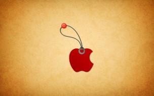 компьютеры, apple, яблоко, подвеска
