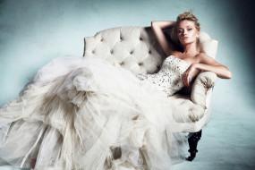девушки, - невесты, невеста, поза, пышное, платье