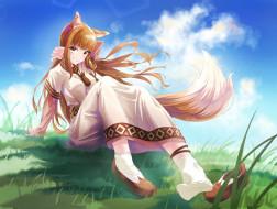 аниме, spice and wolf, волчица, и, пряности