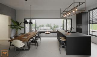интерьер, столовая, столы, стулья, растение, табуретки, кран, диваны