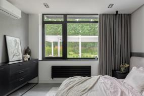 интерьер, спальня, окно, кровать, картина