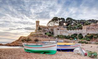 крепость, лодки, пляж