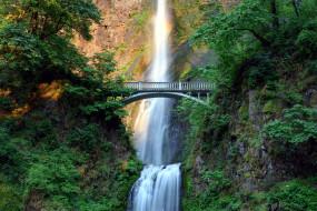 multnomah falls, oregon, природа, водопады, multnomah, falls