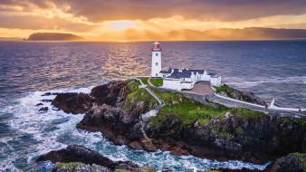 fanad head lighthouse, ireland, природа, маяки, fanad, head, lighthouse