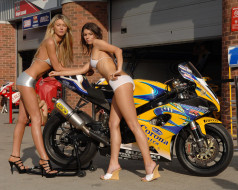 мотоциклы, мото, девушкой