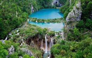 plitvice lakes, croatia, природа, водопады, plitvice, lakes