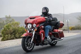 мотоциклы, harley-davidson, 2014, harley, davidson, flhtcu, ultra, classic, electra, glide, красный, трасса