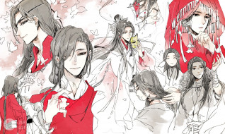аниме, tian guan ci fu, благословение, небожителей