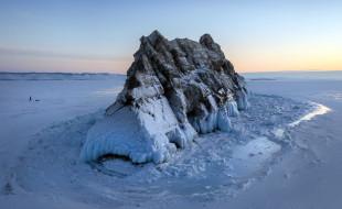 природа, горы, горные, породы, зима, лед, холод, пейзаж, озеро, байкал