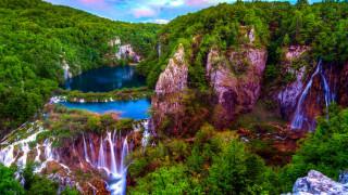 plitvice lakes, croati, природа, водопады, plitvice, lakes