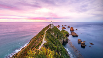 nugget point lighthouse, new zealand, природа, маяки, nugget, point, lighthouse, new, zealand