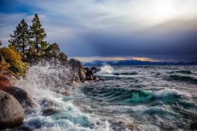Lake Tahoe,Nevada обои для рабочего стола 2560x1706 lake tahoe, nevada, природа, побережье, lake, tahoe