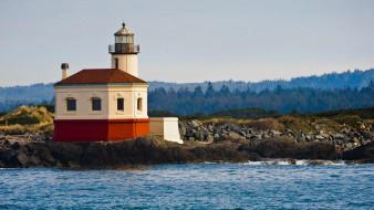 lighthouse at the oregon coast, природа, маяки, lighthouse, at, the, oregon, coast