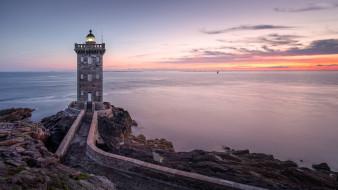 kermorvan lighthouse, france, природа, маяки, kermorvan, lighthouse
