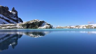 black lake, pizol mountain, switzerland, природа, реки, озера, black, lake, pizol, mountain