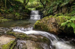 sychryd waterfall, pontnedfechan, wales, природа, водопады, sychryd, waterfall