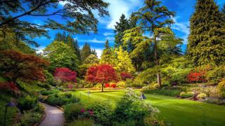 butchart gardens, british columbia, canada, природа, парк, butchart, gardens