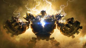 видео игры, league of legends, киборг, молнии, blitzcrank