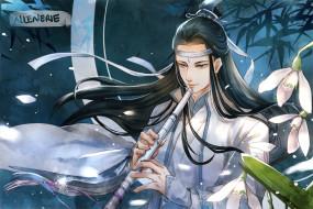 аниме, mo dao zu shi, лань, сичень, флейта