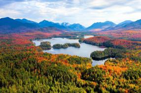 природа, реки, озера, горы, осень