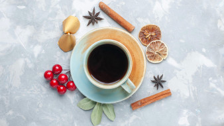 еда, кофе,  кофейные зёрна, корица, анис