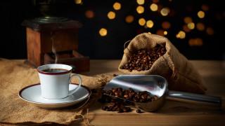 еда, кофе,  кофейные зёрна, кофемолка, зерна, мешок
