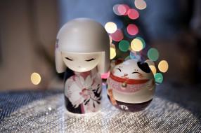 разное, игрушки, японские, куколки