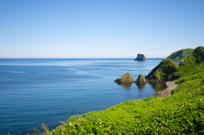 монерон, природа, побережье, россия, сахалин, остров, море, берег