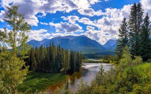 banff national park, canada, alberta, природа, реки, озера, banff, national, park