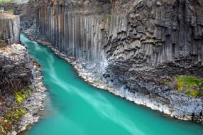 Stuolagil Canyon,Iceland обои для рабочего стола 2560x1706 stuolagil canyon, iceland, природа, реки, озера, stuolagil, canyon