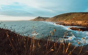 природа, побережье, скалы, вода