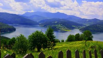 обои для рабочего стола 1920x1080 природа, реки, озера, горы, озеро, луг