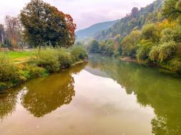 природа, реки, озера, горы, река, осень