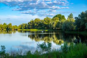 природа, реки, озера, деревья, озеро, отражение
