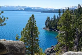 tahoe lake, sierra nevada, природа, реки, озера, tahoe, lake, sierra, nevada