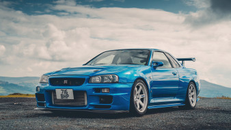 nissan skyline gt-r r34, автомобили, nissan, datsun, skyline, gtr, r34, godzilla, годзилла, japan, японская, legend, легенда