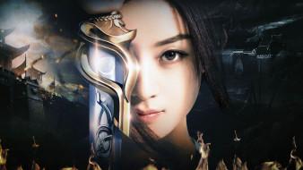 кино фильмы, princess agents , chu qiao zhuan, девушка, лицо, меч, война, крепости