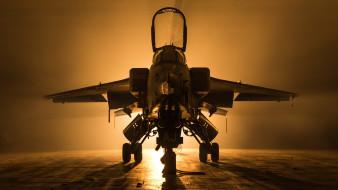 авиация, боевые самолёты, аэродром, истребитель, свет, военная