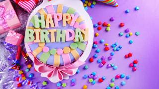 праздничные, день рождения, подарки, торт, надпись