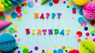 праздничные, день рождения, надпись
